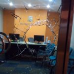College vandalised after protest against chairman accused of insulting Islam