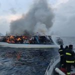 Elderly man dies after boat fire